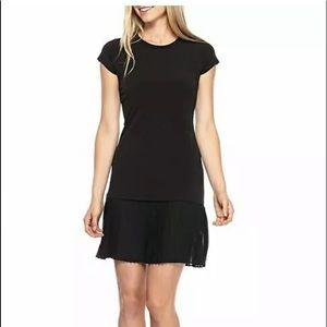 MICHAEL KORS Women's Pleat Chiffon Hem Dress XL